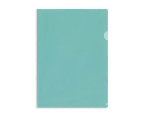 Папка-уголок жесткий пластик зеленая А4 180 мкм 10 штук в упаковке - (627971К)