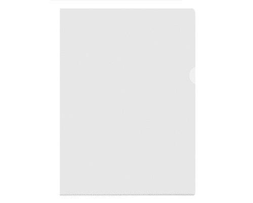 Папка-уголок пластиковая прозрачная А4 100 мкм 10 штук в упаковке - (495371К)