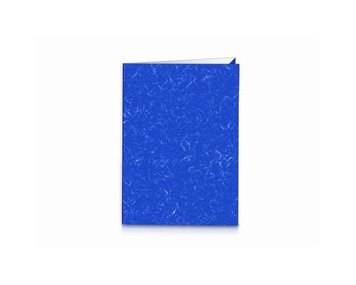 Папка уголок Attache двойная А4-А3 синяя 250 г/кв.м - (604961К)