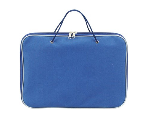 Папка-портфель Attache нейлоновая А4 синяя 340x260 мм 1 отделение - (95455К)