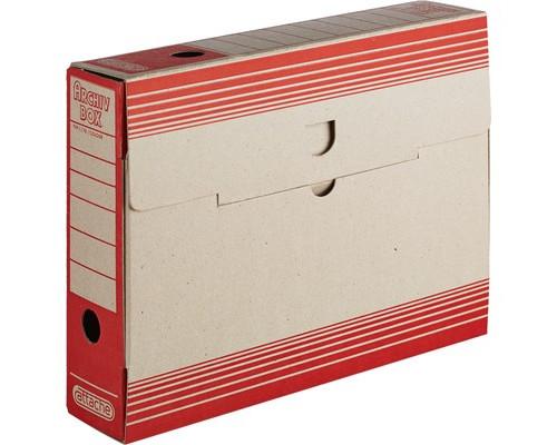 Короб архивный Attache картон красный 256х75х322 мм - (390817К)
