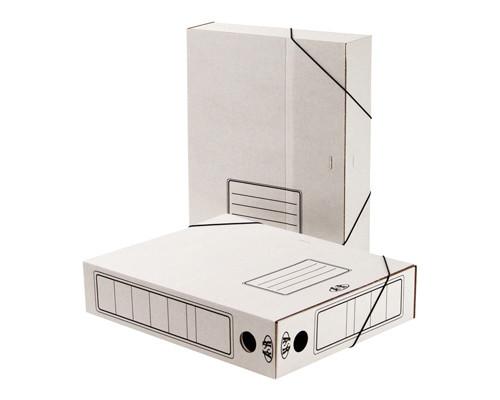 Короб архивный Attache гофрокартон белый А4 корешок 75 мм складной 2 резинки - (131302К)