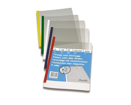 Папка для брошюровки Bantex со скрепкошиной А4 в ассортименте до 30 листов 5 штук в упаковке - (108140К)
