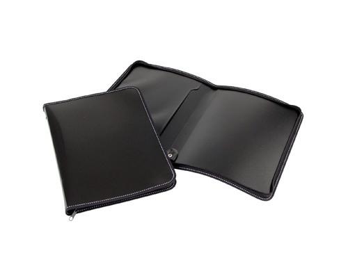 Папка-конверт Attache на молнии А4 пластиковая черная 0.5 мм - (143446К)