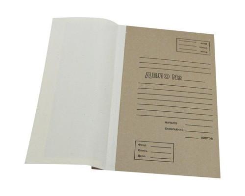 Папка для переплета бежевая переплетный картон 216х42х305мм - (349866К)
