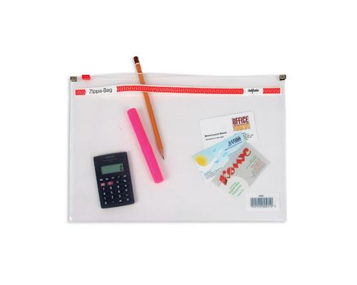 Папка-конверт Zippa-Bag Snopake на молнии А4 прозрачная 0.18 мм - (62071К)