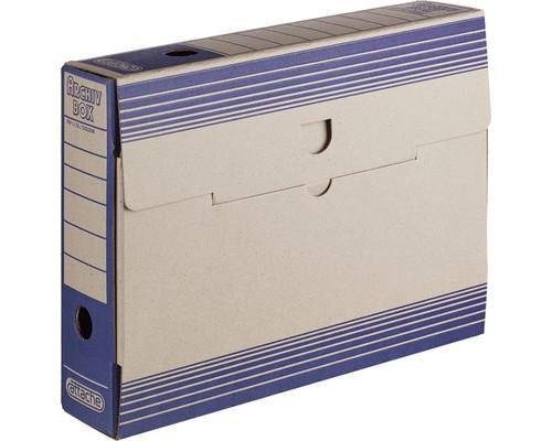 Короб архивный Attache картон синий 256х75х322 мм - (390816К)
