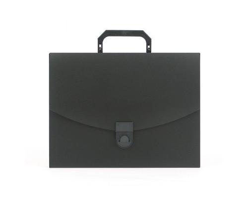 Папка-портфель Attache пластиковая A4 черная 250x370 мм 1 отделение - (112338К)