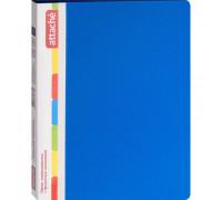 Папка-скоросшиватель с пружинным механизмом Attache пластиковая А4 синяя 0.7 мм до 150 листов - (33051К)