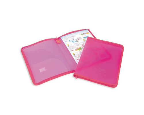 Папка-конверт Attache на молнии А4 розовая 0.5 мм - (49260К)
