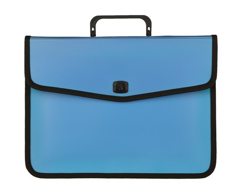 Папка-портфель Attache Fantasy пластиковая А4 голубая 370x280 мм 1 отделение - (476509К)