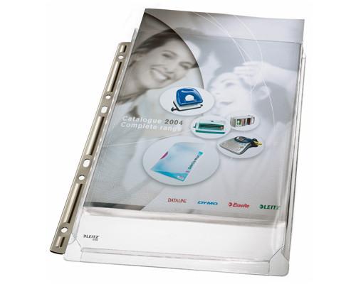 Файл-вкладыш Leitz А4 170 мкм гладкий прозрачный 3 штуки в упаковке - (77877К)