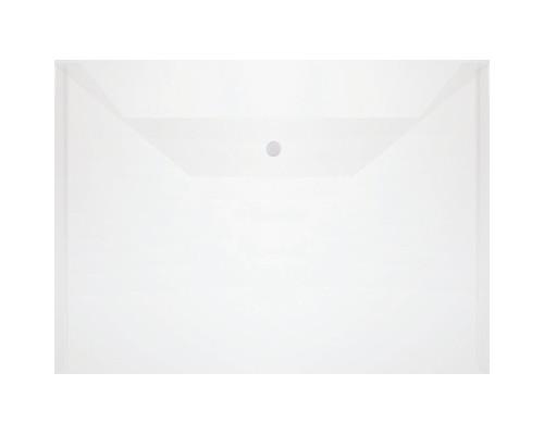 Папка-конверт на кнопке А4 прозрачная 0.1 мм 10 штук в упаковке - (501746К)