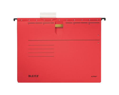 Подвесная папка Leitz Alpha А4 до 25 листов красная - (217996К)