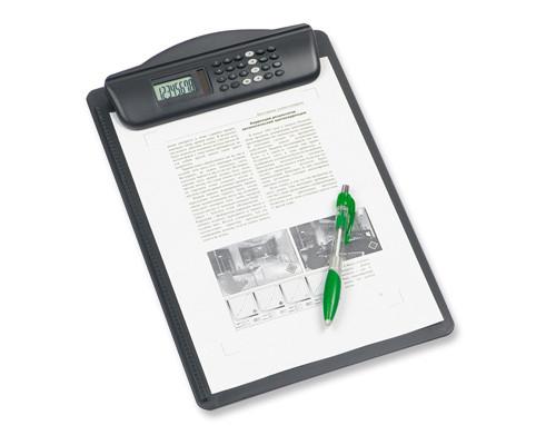 Папка-планшет Maul Hebel А4 пластиковая с калькулятором черная 3 мм - (11682К)