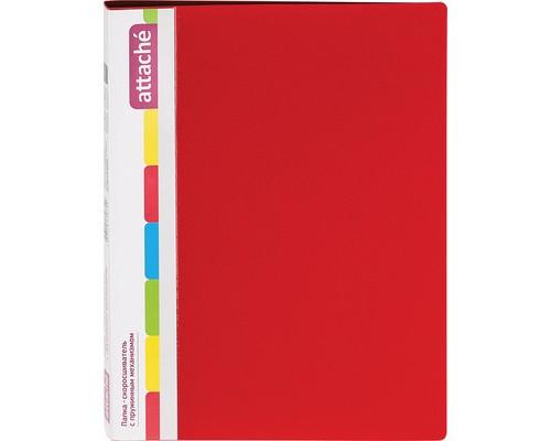 Папка-скоросшиватель с пружинным механизмом Attache пластиковая А4 красная 0.7 мм до 150 листов - (33055К)