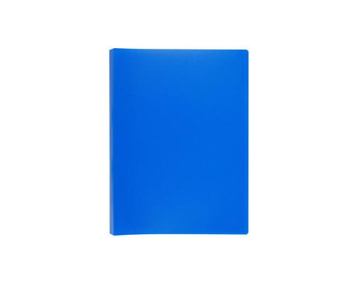 Папка-скоросшиватель с пружинным механизмом Attache пластиковая А4 синяя 0.7 мм до 150 листов - (112329К)