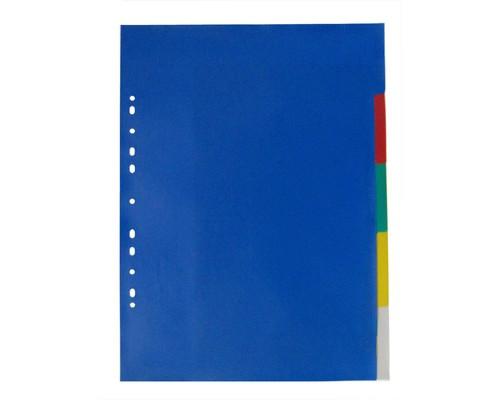 Разделитель листов Attache А3 пластиковый 5 листов цветной 290х420 мм - (390819К)