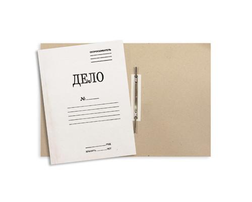 Папка-скоросшиватель Дело № картонная А4 до 150 листов белая 440 г/кв.м - (54974К)