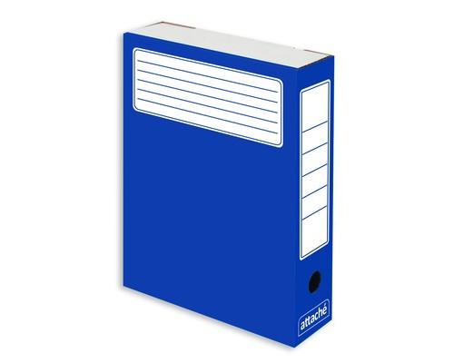 Короб архивный Attache микрогофрокартон синий 252x75x322 мм 5 штук в упаковке - (632311К)