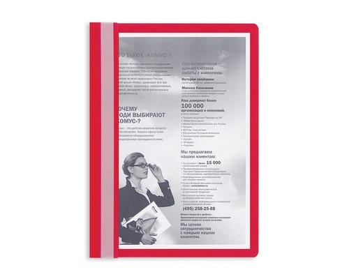 Папка-скоросшиватель Attache прозрачная пластиковая A4 красная 10 штук в упаковке - (495376К)