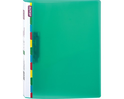 Папка с зажимом Attache Diagonal А4 0.6 мм зеленая до 150 листов - (391370К)