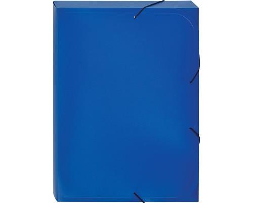 Папка-короб на резинках Attache А4 пластиковая синяя 0.45 мм до 250 листов - (112301К)
