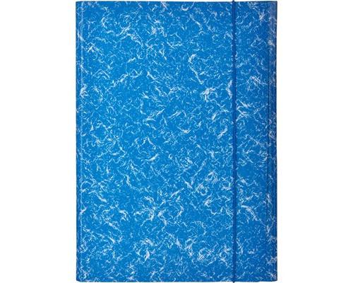 Папка на резинках Attache картонная синяя 370 г/кв.м до 200 листов - (478269К)
