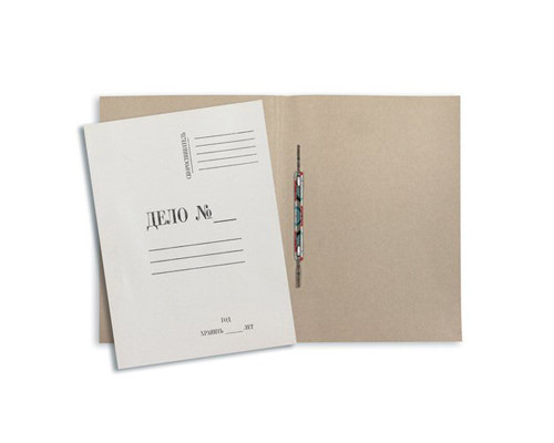 Папка-скоросшиватель Дело № картонная А4 до 150 листов белая 220 г/кв.м - (201997К)
