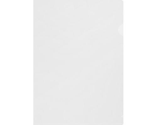 Папка-уголок жесткий пластик белая матовая А4 180 мкм 10 штук в упаковке - (627974К)