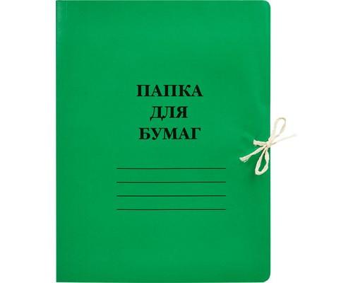 Папка для бумаг с завязками 300 г/кв.м цветной мелованный картон цвета в ассортименте - (113952К)