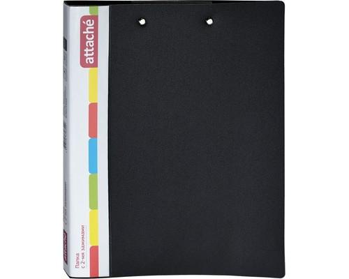 Папка Attache А4 с двумя зажимами пластиковая черная - (632314К)