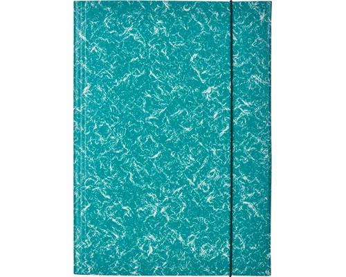 Папка на резинках Attache картонная зеленая 370 г/кв.м до 200 листов - (478271К)