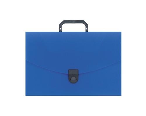 Папка-портфель Attache пластиковая A4 синяя 250x370 мм 1 отделение - (112337К)