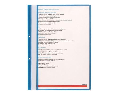 Папка-скоросшиватель с перфорацией на корешке Attache прозрачная пластиковая А4 синяя 10 штук в упаковке - (495380К)
