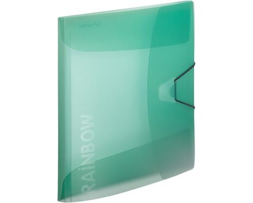 Папка на резинках Attache Rainbow А4 пластиковая зеленая 0.45 мм до 200 листов - (488255К)