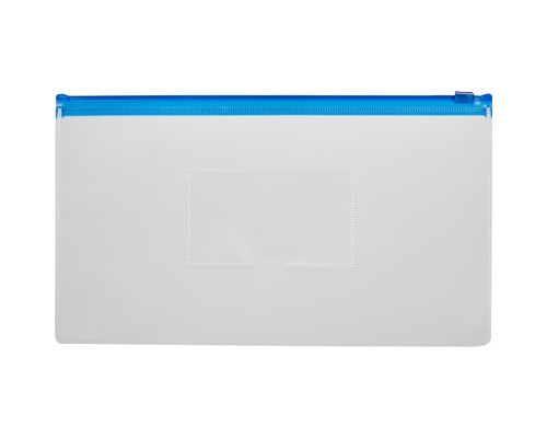 Папка-конверт Attache на молнии для билетов синяя 0.16 мм 265x148 мм - (169397К)
