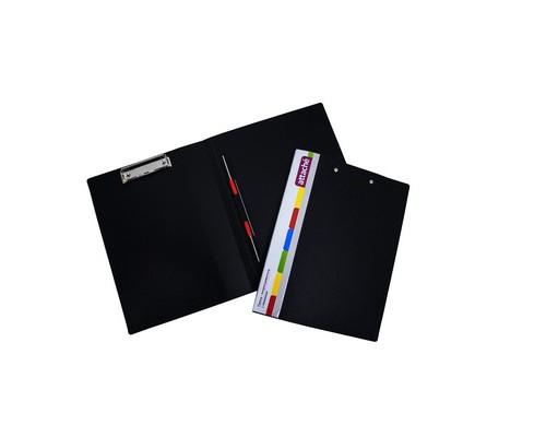 Папка-скоросшиватель Attache А4 с пружинным механизмом и верхним клипом пластиковая А4 черная 0.7 мм до 100 листов - (627960К)