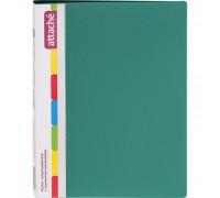Папка-скоросшиватель с пружинным механизмом Attache пластиковая А4 зеленая 0.7 мм до 150 листов - (33054К)
