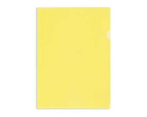 Папка-уголок жесткий пластик желтая А4 180 мкм 10 штук в упаковке - (627970К)