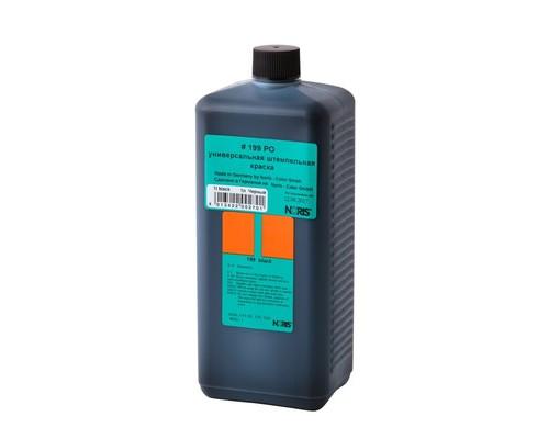 Краска штемпельная универсальная 199Е черная для пластика каменя резины фольги 1л - (520401К)