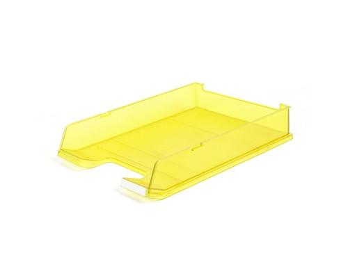 Лоток для бумаг горизонтальный Han прозрачный желтый - (65373К)