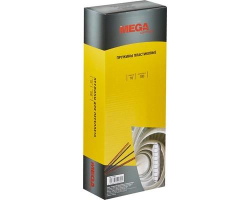 Пружины для переплета пластиковые ProMega Office 10 мм белые 100 штук в упаковке - (255081К)