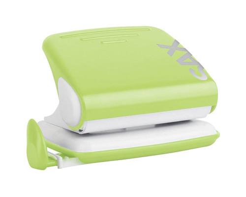 Дырокол Sax Design 318 до 20 листов светло-зеленый с линейкой - (265700К)