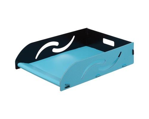 Лоток для бумаг горизонтальный Attache Selection Neon бирюзовый - (478306К)