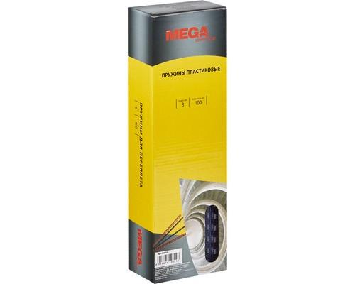 Пружины для переплета пластиковые ProMega Office 8 мм прозрачные 100 штук в упаковке - (255078К)