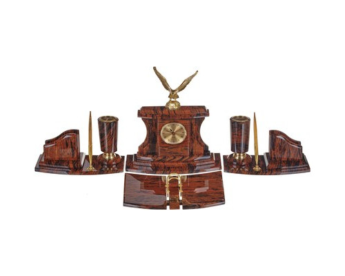 Набор настольный Империал обсидиановый 6 предметов светло-коричневый - (108530К)