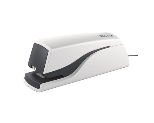 Степлер электрический Leitz Nexxt до 10 листов серебристый со скобами - (334450К)