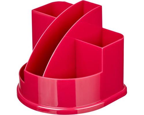 Подставка для канцелярских мелочей Attache Fantasy розовая 5 отделений - (490039К)