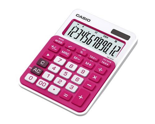 Калькулятор настольный Casio MS-20NCRD 12-разрядный темно-розовый - (394708К)